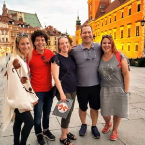Visiting Krakow, Poland with Michael's cousin Ola, sister Christie, and brother-in-law Victor