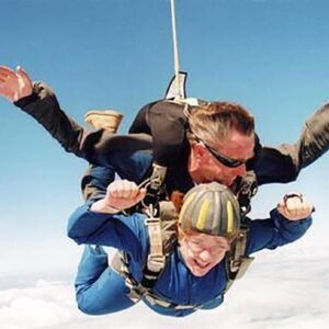 My grandmother invited me to skydive with her for her 81st birthday. I told her I'd make sure it was safe by jumping first (Gardiner, New York)