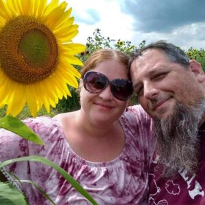 Saturday afternoon at the sunflower farm in Accord, New York