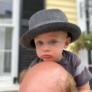 """""""What? I'm wearing Dad's hat"""""""