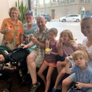 Gelato with Jason's family in Florence, Italy