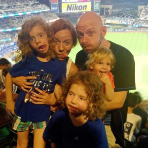 Jason's birthday trip to a Mets game with nieces Harley, Delilah and nephew Ellis