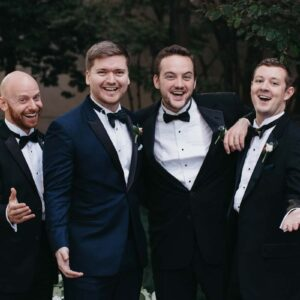 Jason's a cappella quartet, Chase, Johnny, and Tom at Chase's wedding