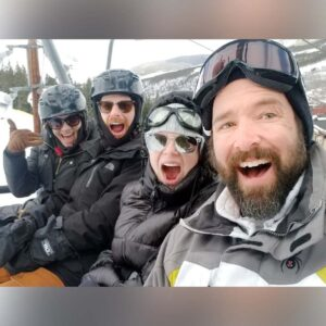Skiing with our great friends Brian & Christina in Colorado