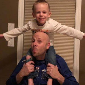 Daddy and Matthew being silly