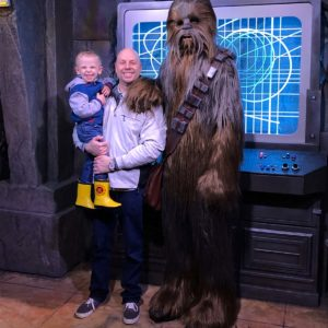 """""""May the Force be with you"""" … Daddy and Matthew's happiest moment at Disney"""