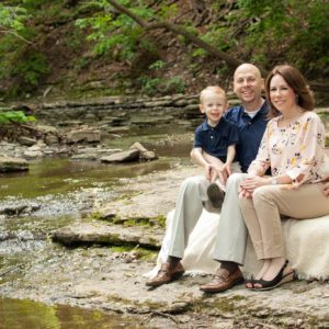 We love the water! Family picture at Thatcher park