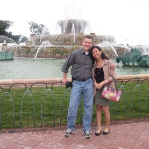 Visiting Paula in Chicago for the first time