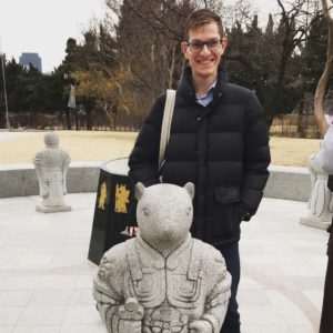 Touring a sculpture garden in Seoul on a work trip to South Korea.