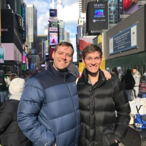 My brother Mason took this photo on a very chilly, sunny day in Times Square during a visit to NYC.