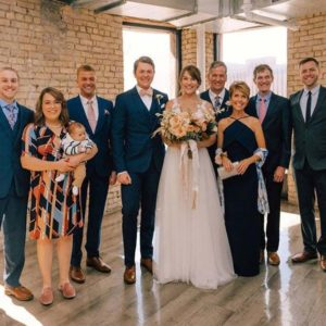 Ryan's side of the family together in Minneapolis, MN for his sister Kelly's wedding.