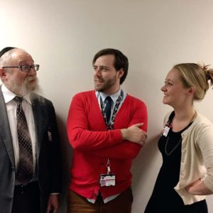 I'm lucky to work with some amazing people at the hospital where I do pediatric chaplaincy, who don't mind that I occasionally dress like Mr. Rogers.