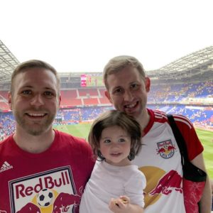 Taking Sienna to her first Red Bulls soccer- match