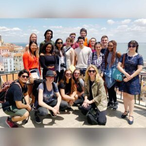 Nicola and her students on her annual study abroad trip to Portugal