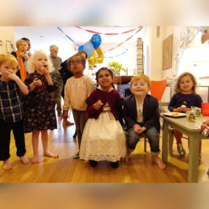 Sebastian's 4th birthday celebration with best friends in our apartment in New York City