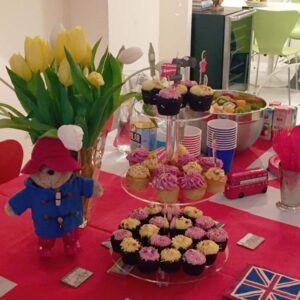 A British-themed birthday party for Sebastian at our apartment in New York City