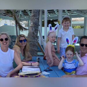 With friends on vacation in Turks and Caicos
