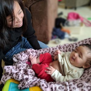 Wendy playing with her Goddaughter Neela