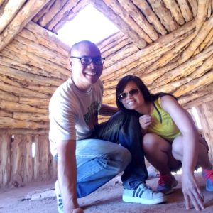 Getting a glimpse of a Native American Reservation Hut in the Grand Canyon, Arizona