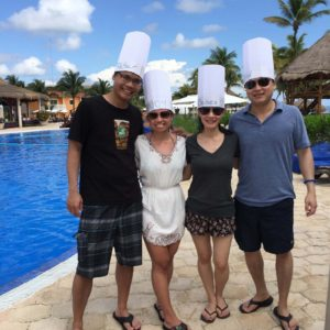 On vacation with our friends Chelsea and Ron in Cancun, Mexico