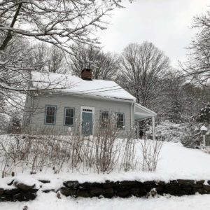 Our cozy home in Connecticut after a winter storm.