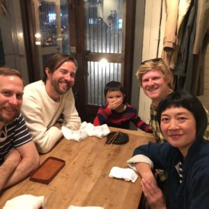 Dinner in Kanazawa, Japan celebrating our engagement with Sam's brother Dave, his wife Tomo, and their son Henry.